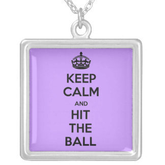 バレーボールは穏やかなおよび衝突ネックレス保ちます シルバープレートネックレス