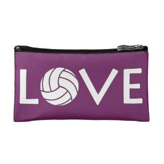 バレーボール愛カスタマイズ可能な化粧品のハンドバッグ コスメティックバッグ