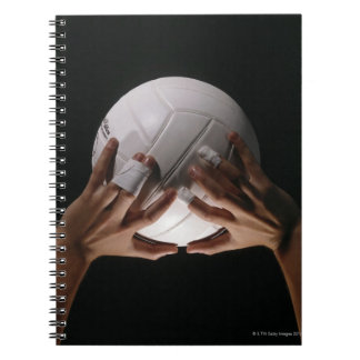 バレーボール手 ノートブック