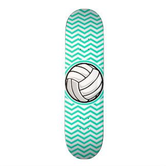 バレーボール; 水緑のシェブロン スケートボード