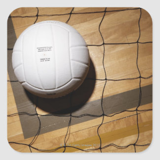 バレーボール|網|堅材|床 正方形シール・ステッカー
