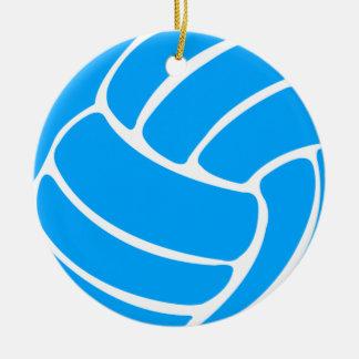 バレーボールW/Nameのオーナメントの青 セラミックオーナメント