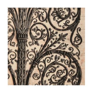 バロック式のヴィンテージの建築装飾的なIronwork ウッドウォールアート