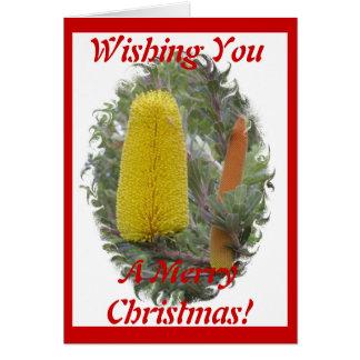 バンクシアのクリスマスカード カード