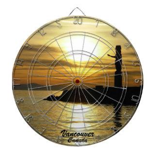 バンクーバーのダート盤のバンクーバーの日没のダート盤 ダーツボード