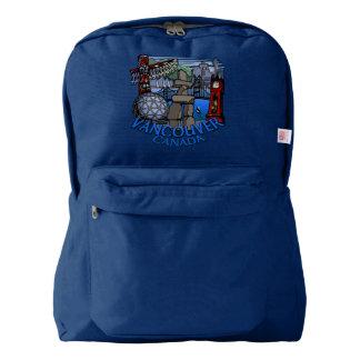 バンクーバーのバックパックのバンクーバーの記念品は習慣を袋に入れます AMERICAN APPAREL™バックパック