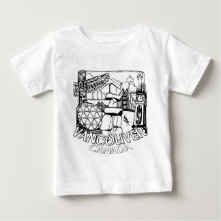 バンクーバーの記念品のベビーのTシャツの陸標のベビーのティー ベビーTシャツ
