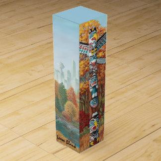バンクーバートーテムポールのワインの箱によってカスタマイズ記念品 ワインギフトボックス