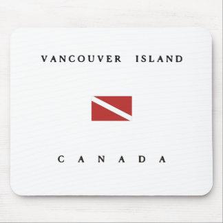 バンクーバー島のカナダのスキューバ飛び込みの旗 マウスパッド
