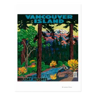 バンクーバー島の広告ポスター ポストカード