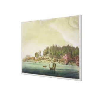 バンクーバー(色の版木、銅版、版画)の早い解決 キャンバスプリント