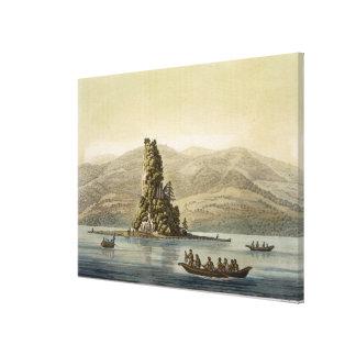 バンクーバー(色の版木、銅版、版画)の近くの新しいノーフォーク キャンバスプリント