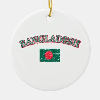 バングラデシュのフットボールのデザイン セラミックオーナメント