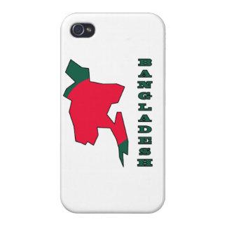 バングラデシュの地図の旗 iPhone 4 CASE