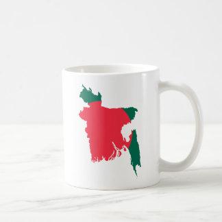 バングラデシュの地図BD コーヒーマグカップ