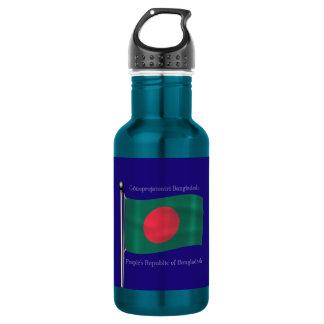 バングラデシュの振る旗 ウォーターボトル