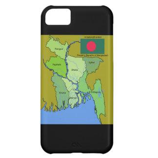 バングラデシュの旗そして地図 iPhone5Cケース