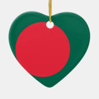バングラデシュの旗 セラミックオーナメント