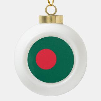 バングラデシュの旗 セラミックボールオーナメント