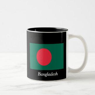 バングラデシュの旗 ツートーンマグカップ