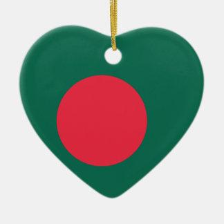 バングラデシュの明白な旗 セラミックオーナメント