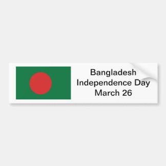 バングラデシュの独立記念日のバンパーステッカー バンパーステッカー