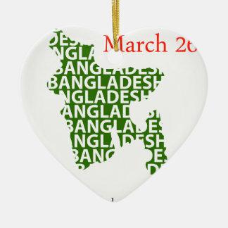 バングラデシュの独立記念日3月26日 セラミックオーナメント