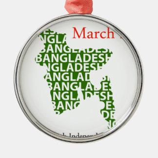 バングラデシュの独立記念日3月26日 メタルオーナメント