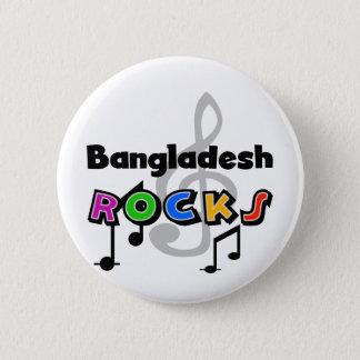 バングラデシュの石 5.7CM 丸型バッジ