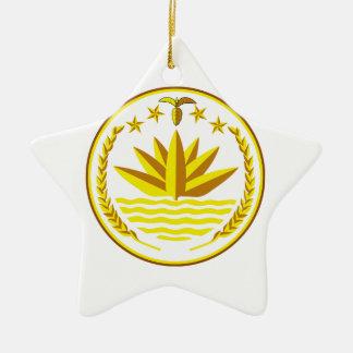 バングラデシュの紋章付き外衣 セラミックオーナメント