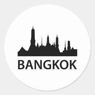 バンコクのスカイライン ラウンドシール
