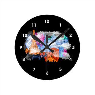 バンコクグランジな旅行都市グラフィックcopy.png ラウンド壁時計