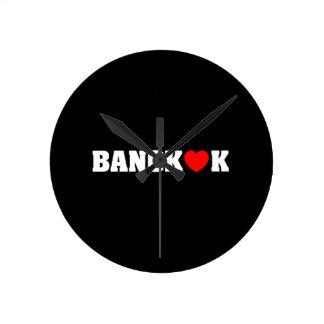 バンコク愛 ラウンド壁時計