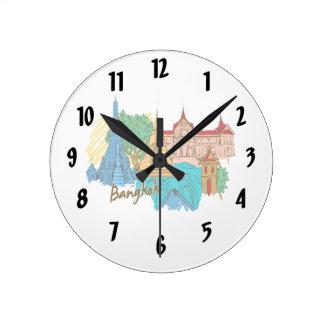 バンコク旅行都市graphic.png ラウンド壁時計