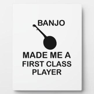 バンジョーのデザイン フォトプラーク