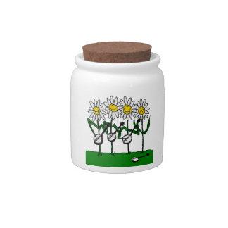 バンジョーの花 陶器製キャンディジャー