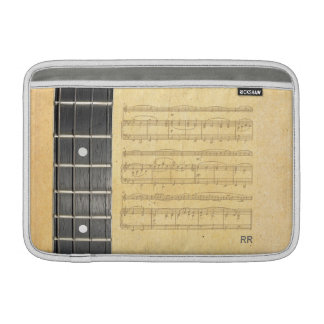 """バンジョーのFretboardの楽譜のMacbookの空気11""""袖 MacBook スリーブ"""