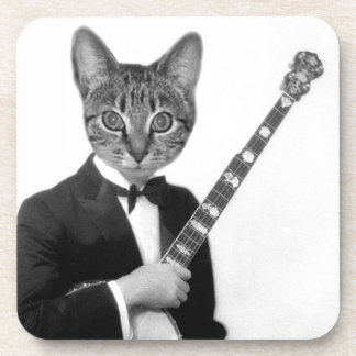 バンジョーを持つ猫 コースター