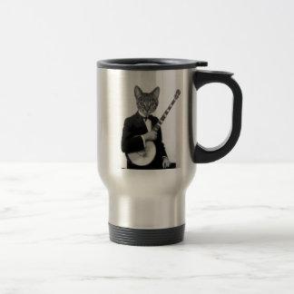 バンジョーを持つ猫 トラベルマグ