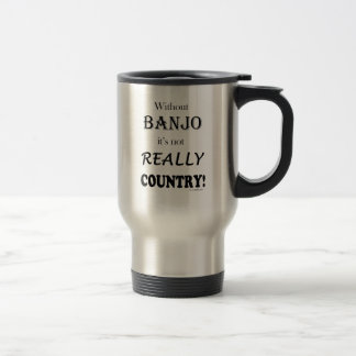 バンジョー-国なし トラベルマグ