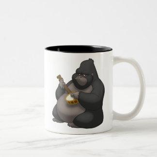 バンジョーStrummin'のゴリラのマグ ツートーンマグカップ