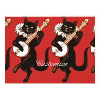 バンジョーThunder_Coveを演奏している猫 カード