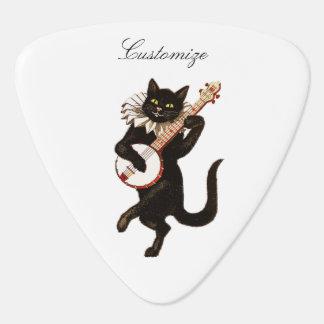 バンジョーThunder_Coveを演奏している猫 ギターピック