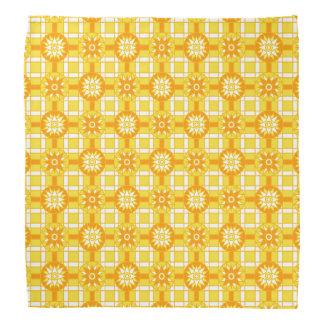バンダナの幾何学的な318金黄色 バンダナ