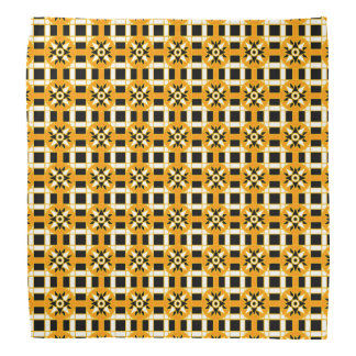 バンダナの幾何学的な318黒 バンダナ