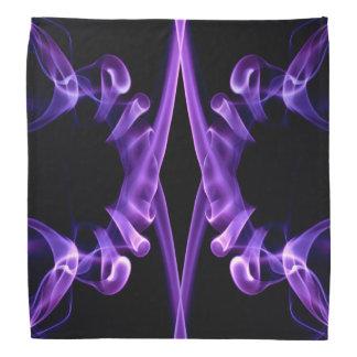 バンダナの紫色の抽象芸術の煙のデザインパターン バンダナ