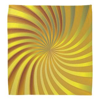 バンダナの金ゴールドの螺線形渦 バンダナ
