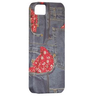 バンダナはiPhone 5デニムのジーンズの穹窖の衰退しました iPhone SE/5/5s ケース