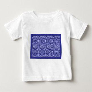 バンダナ青いパターンペイズリー ベビーTシャツ