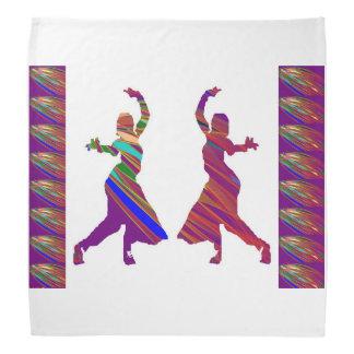 """バンダナ19""""はダンスのおもしろい芸術NavinJOSHIを時間を計ります バンダナ"""